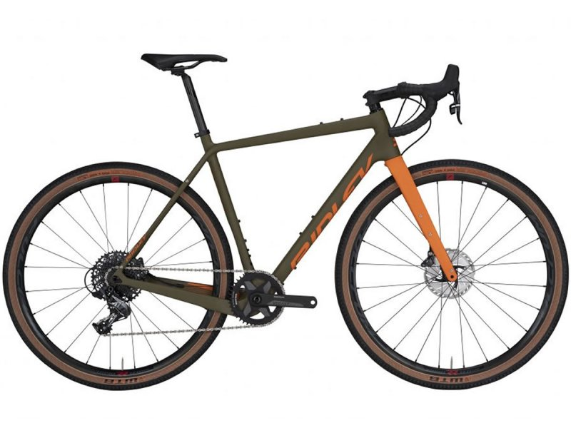 Vélo carbone gravel RIDLEY KANZO Adventure marron-orange Shimano GRX800 1x 2021